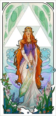 Zelda: Art Nouveau by Neddea on deviantART