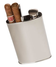 Silver Wingman Cigar Holder Flask by Brouk & Co. #zulily #zulilyfinds