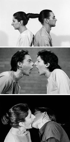 Marina Abramovic & Ulay, performance art, MOMA. I love abramovic, she's something else.
