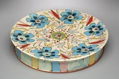 Ursula Hargens colorful ceramics, pottery for sale at MudFire Gallery for clay