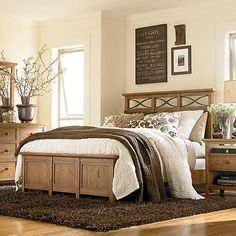 The beautiful combination of solid wood construction with dark brown bedroom furniture Oak Bedroom Furniture, Brown Furniture, Country Furniture, Furniture Design, Furniture Decor, Antique Furniture, Country Modern Home, Country House Interior, Home Interior