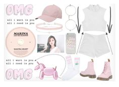 Twice Sana - Cheer Up Inspired by adnqmu on Polyvore featuring polyvore fashion style Yeah Bunny Dr. Martens Kate Spade Miss Selfridge adidas Illesteva Dolce Vita clothing