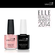 CND Vinylux eletto miglior smalto agli ELLE BEAUTY AWARDS 2014.   #cnd #cndvinylux #abbiamoreinventatolosmalto #elleitalia #elle