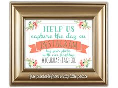 Free printable instagram sign for wedding wedding instagram wedding ideas wedding printables instagram sign free printable