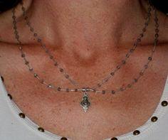 Sterling Silver and Blue Flash Labradorite Beads by bintoit, $55.00