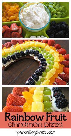Rainbow Fruit Pizza