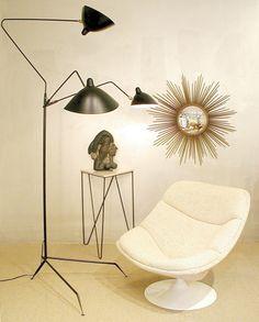 Serge Mouille   3 Arm Floor Lamp Modern Floor Lamps, Black Floor Lamp,  Modern