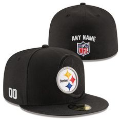 Men s Pittsburgh Steelers New Era Black Custom On-Field 59FIFTY Structured  Fitted Hat 030890ff51ad