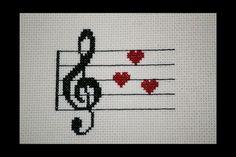 Treble Clef Love Cross Stitch Pattern | Craftsy