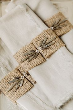 Hand beaded napkin holders by HushedCommotion! (you can buy them here  !)