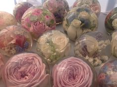 Keep your flowers forever encased in a hand made flower paperweight ..