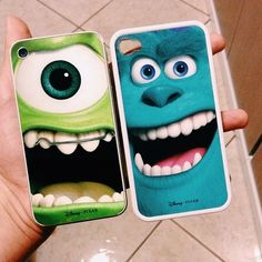 Monsters Inc. phone cases!! I'm in-love!!! <3 <3 <3 for best friends!!! Just gotta find a best friend :)