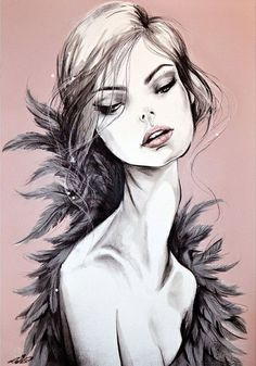 'Plumes' | Lepip by Pippa McManus Fashion Illustration