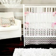 New Arrivals 2-Piece Crib Set - Peace Love & Pink - www.rightstart.com