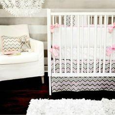 New Arrivals 2-Piece Crib Set - Peace Love & Pink - www.rightstart.com