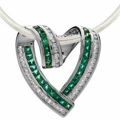 Diamond emerald pendent on amazon.com