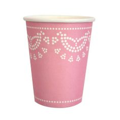 Paper Cups - Light Pink Lace for $7.50 from The TomKat Studio Party Shop