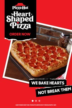 Spend Valentine's Day with your real true loves: pizza & dessert. Order a Heart-Shaped Pizza and sweeten the deal with a cookie or brownie. Available until 2/14. Funny Vintage, Vintage Ads, Galentines Day Ideas, My Favorite Food, Favorite Recipes, Heart Shaped Pizza, Creamy Chicken Pasta, Valentine Tree, Hotel Food