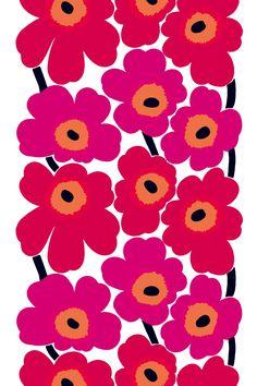 Unikko coated  cotton my Marimekko... imagine it on cushions...a wall...a bedspread... a massive upholstered headboard