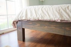 diy bed frame.  Love this! Then just add an awesome headboard.