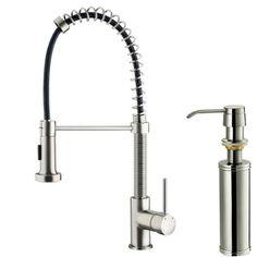 VIGO 1-Handle Pull-Out Kitchen Faucet