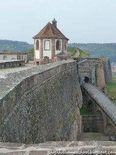 Bitche, France - Citadel  was here with Audrey when she was little...scary she wanted to lean over to look!
