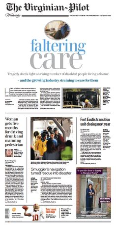 The Virginian-Pilot's front page for Wednesday, April 22, 2015.