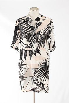 Stella McCartney Botanical Print Silk Tunic Dress - $292