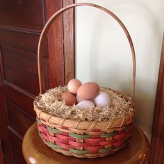 Fair Isle Easter Basket by JoannasCollections on Etsy