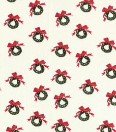 Holiday Inspirations™ Christmas Fabric-Mini Vintage Wreaths