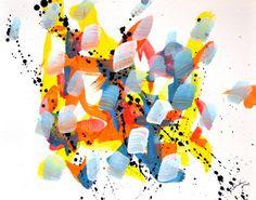 Marcel Barbeau, Sans titre 3,  2003, acrylique sur papier Marcel Barbeau, Arts, Abstract Art, Happiness, Patterns, Artwork, Photos, Painting, Contemporary Paintings