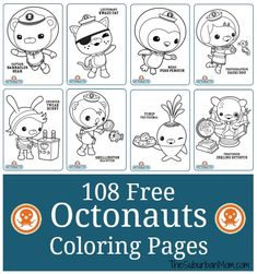 The countdown has begun. My big girl turns 6 in March, and she has been talking about her Octonauts birthday party since… last March. The pressure is on. There is a lot of planning, a lot of designing and a lot of crafting to do. But I have the first step down, coloring pages! I …