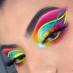 Makeup Is Life, Makeup Eye Looks, Beautiful Eye Makeup, Eye Makeup Art, Colorful Eye Makeup, Cute Makeup, Eyeshadow Makeup, Makeup Goals, Fairy Makeup
