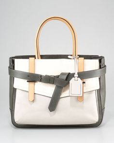 Boxer Tote Bag, Grey Multi by Reed Krakoff at Neiman Marcus.