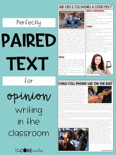 Engaging opinion writing using paired text