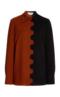 Carl Virgin Wool-Silk Blend Shirt By Gabriela Hearst   Moda Operandi Gabriela Hearst, Matching Shirts, Point Collar, News Design, Slim, Fashion Textiles, Long Sleeve, Sleeves, Jackets