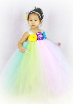 Elegant Pastel Easter  tutu dress with by JadasLittleGarden, $82.00