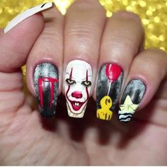 October is almost here which means Halloween is around the easy Halloween nail art ideas to copy now.Spooky,frightening and fun Halloween nails. Holloween Nails, Cute Halloween Nails, Halloween Nail Designs, Halloween Ideas, Women Halloween, Crazy Nail Art, Cool Nail Art, Nail Art Diy, Crazy Nails