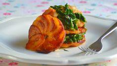 Plantain & Spinach Tower - Funke Koleosho's New Nigerian Cuisine