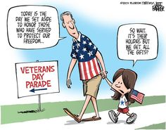 Amen!  ONLY Veteran's should get a paid holiday on November 11th.