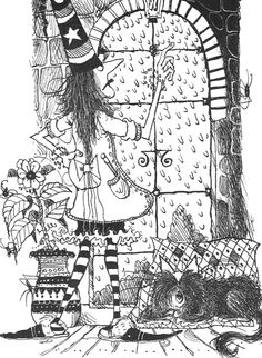 Winnie the Witch Halloween Art, Holidays Halloween, Halloween Decorations, Witch Coloring Pages, Supernatural Art, Evil Queens, Witch Art, Ink Illustrations, Magazine Art