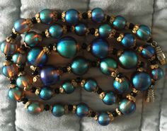 WMF Myra glass bead necklace - restrung.