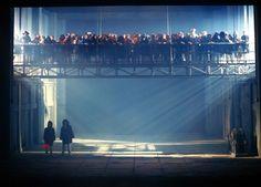 """Roni Toren Stage Design """"Otello"""" / Verdi ,Vlaamse Opera ,(Anrwerpen- Gent) , Belgium ,2001 Conductor : Balazs Kocsar Director : Guy Joosten Set"""