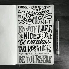 We Love Typography: Just a bunch of motivating phrases by Mark van Leeuwen Calligraphy Letters, Typography Letters, Hand Drawn Typography, Caligraphy, Types Of Lettering, Brush Lettering, Creative Lettering, Lettering Design, Lettering Ideas