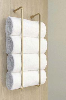 Bathroom Towel Storage, Hand Towels Bathroom, Towel Shelf, Small Bathroom, Bath Towel Racks, Towel Holder For Bathroom, Decorative Bathroom Towels, Towel Racks For Bathroom, Bath Rack