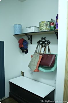 Thrifty Decor Chick: How to build a mud room bench