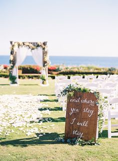 """""""And where you stay I will stay"""" Photography : Brandon Kidd Photography Read More on SMP: http://www.stylemepretty.com/2016/07/22/see-what-unlikely-source-inspired-this-wedding/"""