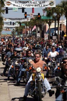 """College Spring Break """"Bike Week"""" ~ Daytona Beach, Florida- went 1992 Daytona Beach Bike Week, Daytona Beach Florida, Biker Rallies, Motorcycle Rallies, Moto Logo, Harley Davidson, Bike Rally, Ormond Beach, Harley Bikes"""