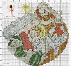 Natività Xmas Cross Stitch, Cross Stitch Needles, Cross Stitch Cards, Counted Cross Stitch Patterns, Cross Stitch Designs, Cross Stitching, Cross Stitch Embroidery, Religious Cross, Jesus On The Cross