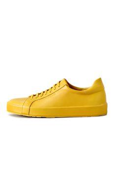 Men's Sunshine yellow sneakers, Jil Sander SS16 #shoes #mens